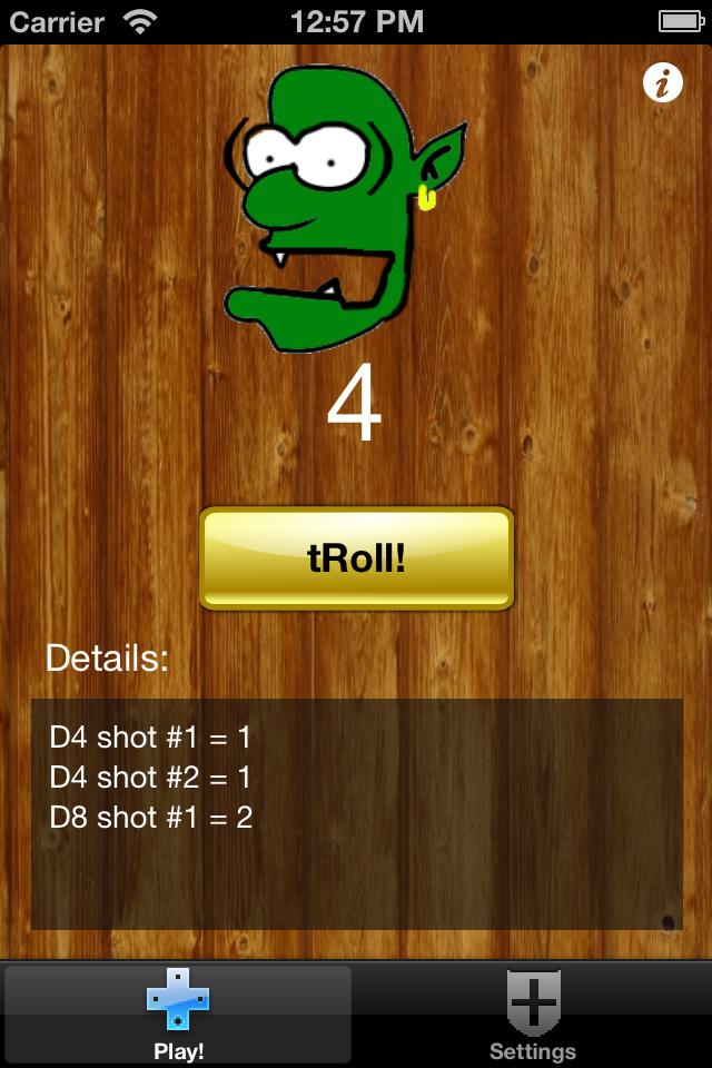 Screenshot Dice tRoll